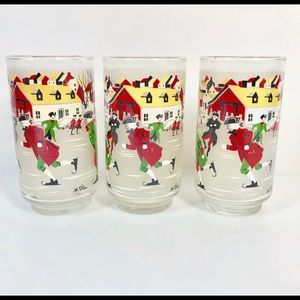 Vintage Holiday - Libby Hostess Glassware Beverage Set Winter of '76